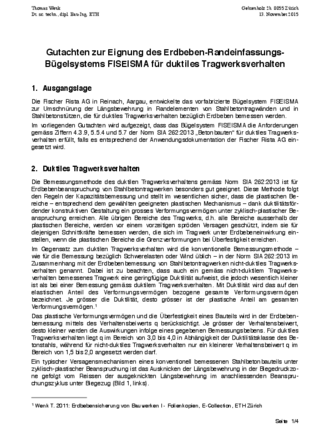 Rapport FISEISMA® Dr. T. Wenk